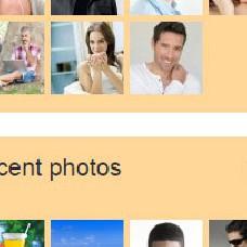 Блоки с фото на домашней странице