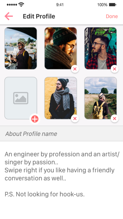 Binder - Tinder Dating clone App with admin panel - iOS